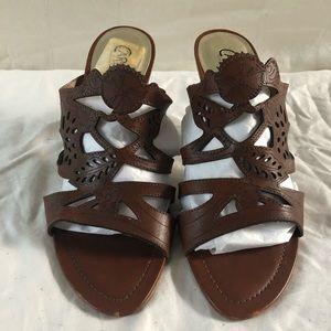 """Carlos sandals size 9. 3"""" heel"""
